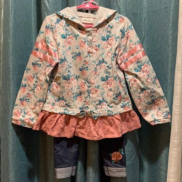 Girls 2-piece hoodie set